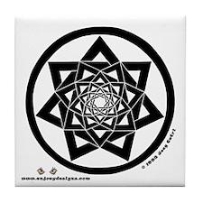 Heptagrams - Tile Coaster