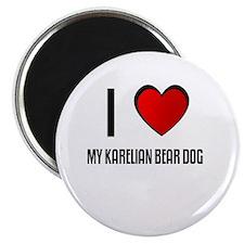 """I LOVE MY KARELIAN BEAR DOG 2.25"""" Magnet (10 pack)"""
