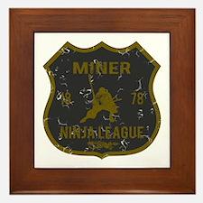 Miner Ninja League Framed Tile