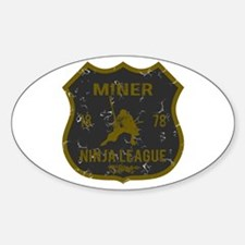 Miner Ninja League Oval Decal