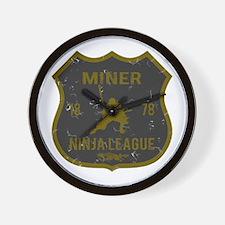 Miner Ninja League Wall Clock
