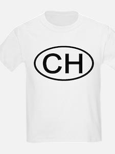 Switzerland - CH - Oval Kids T-Shirt