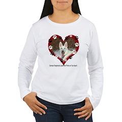 Paw Prints on My Heart, White Women's Long Sleeve