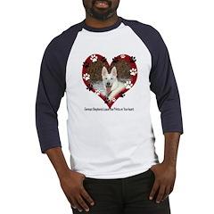 Paw Prints on My Heart, White Baseball Jersey