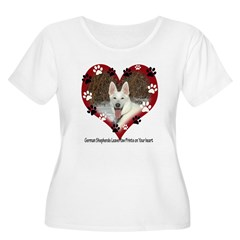 Paw Prints on My Heart, White T-Shirt