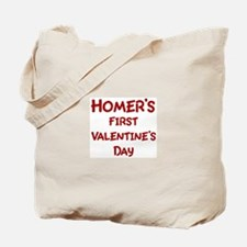 Homers First Valentines Day Tote Bag