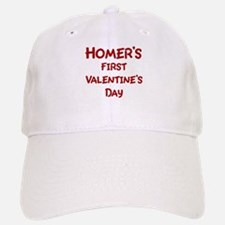 Homers First Valentines Day Baseball Baseball Cap