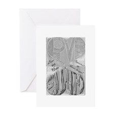 Love/Hate Mirror Image Greeting Card