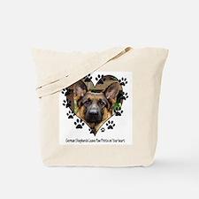 German Shepherds Leave Pawpri Tote Bag
