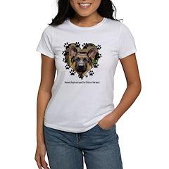 German Shepherds Leave Pawpri Women's T-Shirt