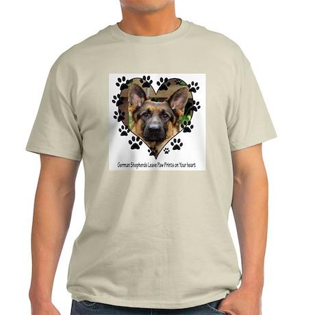 German Shepherds Leave Pawpri Light T-Shirt