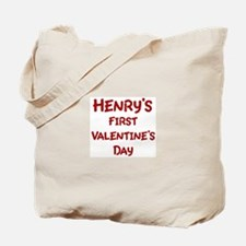 Henrys First Valentines Day Tote Bag