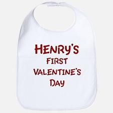 Henrys First Valentines Day Bib