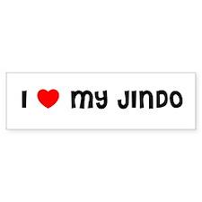 I LOVE MY JINDO Bumper Bumper Sticker