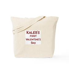 Kalebs First Valentines Day Tote Bag