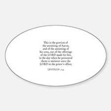 LEVITICUS 7:35 Oval Decal