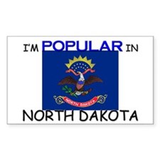 I'm Popular In NORTH DAKOTA Rectangle Decal