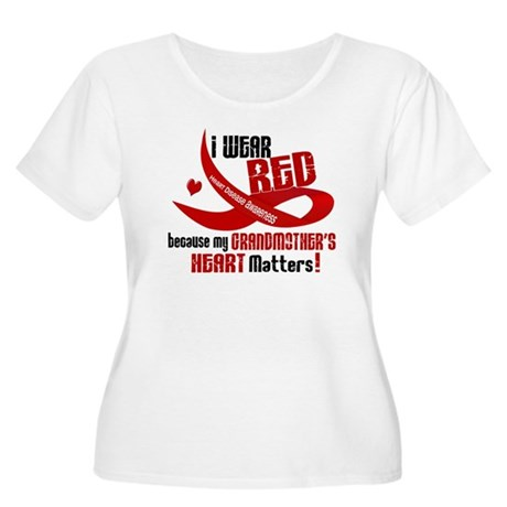 Red For Grandmother Heart Disease Shirt Women's Pl