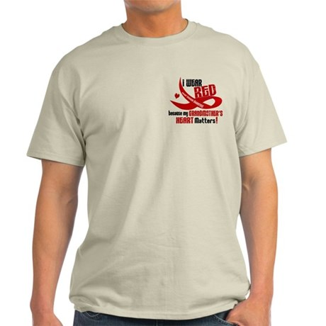 Red For Grandmother Heart Disease Shirt Light T-Sh
