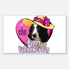 Springer Spaniel Valentines Rectangle Sticker 10