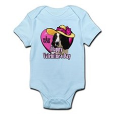 Springer Spaniel Valentines Infant Bodysuit