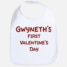 Gwyneths First Valentines Day Bib