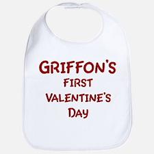 Griffons First Valentines Day Bib