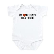 My Heart Belongs to a Boxer Infant Bodysuit