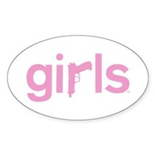 Gun's are for Girls - Oval Decal
