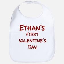 Ethans First Valentines Day Bib