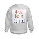 Geeks do it Better Kids Sweatshirt