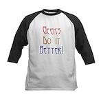 Geeks do it Better Kids Baseball Jersey