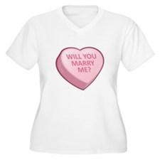 WILL YOU MARRY ME? Candy Heart T-Shirt