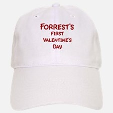 Forrests First Valentines Day Baseball Baseball Cap