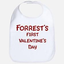 Forrests First Valentines Day Bib