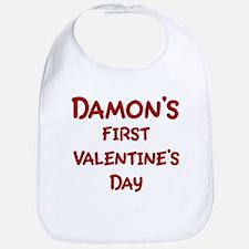 Damons First Valentines Day Bib