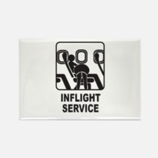 Inflight Service Rectangle Magnet