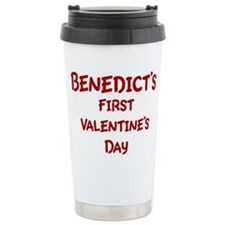 Benedicts First Valentines Da Travel Mug