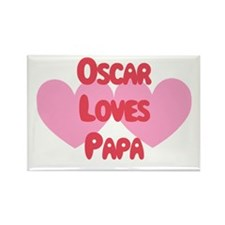 Rob Loves Papa Rectangle Magnet