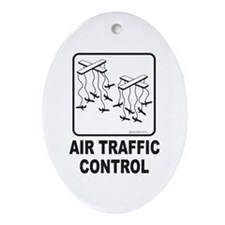 Air Traffic Control Oval Ornament