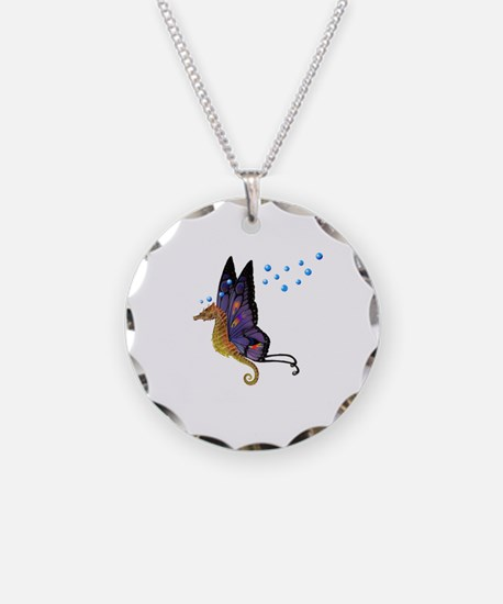 Cute Unicorn butterflies and fairies Necklace