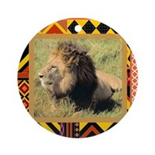 Lion #2 Ornament (Round)