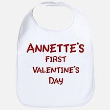 Annettes First Valentines Day Bib