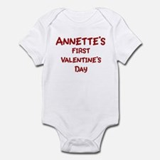 Annettes First Valentines Day Infant Bodysuit