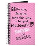 Brides for Obama Wedding Journal