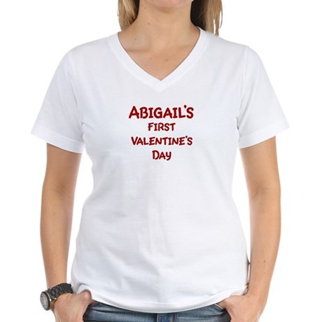 Abigails First Valentines Day Women's V-Neck T-Shi