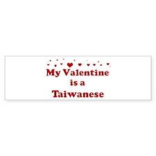 Taiwanese Valentine Bumper Bumper Sticker