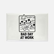 Bad Day at Work Rectangle Magnet