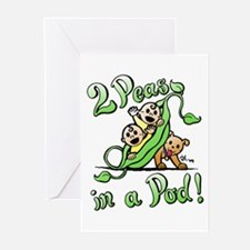 2 Peas & a Pup Greeting Cards (Pk of 20)
