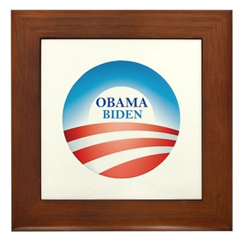 Re-Elect Barack Obama 2012 Framed Tile